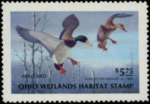 OHIO #02 1983 STATE DUCK STAMP MALLARDSL by Harry Antis