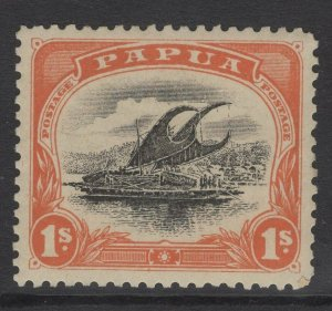 PAPUA SG54 1908 1/= BLACK & ORANGE MTD MINT