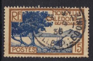 New Caledonia   1928   used    15c.   #