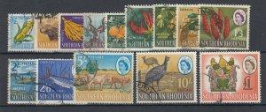 Southern Rhodesia 1964 Set To £1 SG92/105 VFU JK2415
