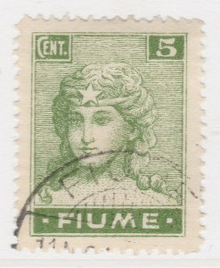 Fiume 1919 5c Very Fine Used Stamp A21P11F4961