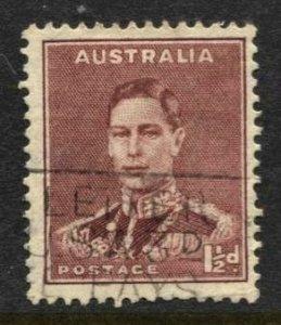 3STAMP STATION PERTH  Australia #168 KGVI Definitive Wmk.228 Used -CV$3.85