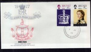 Brunei 227-228 Queen Elizabeth II Silver Jubilee Fleetwood U/A FDC