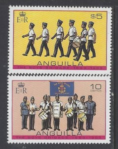 Anguilla, Scott #557-558; Boys Brigrade Centenary, MNH