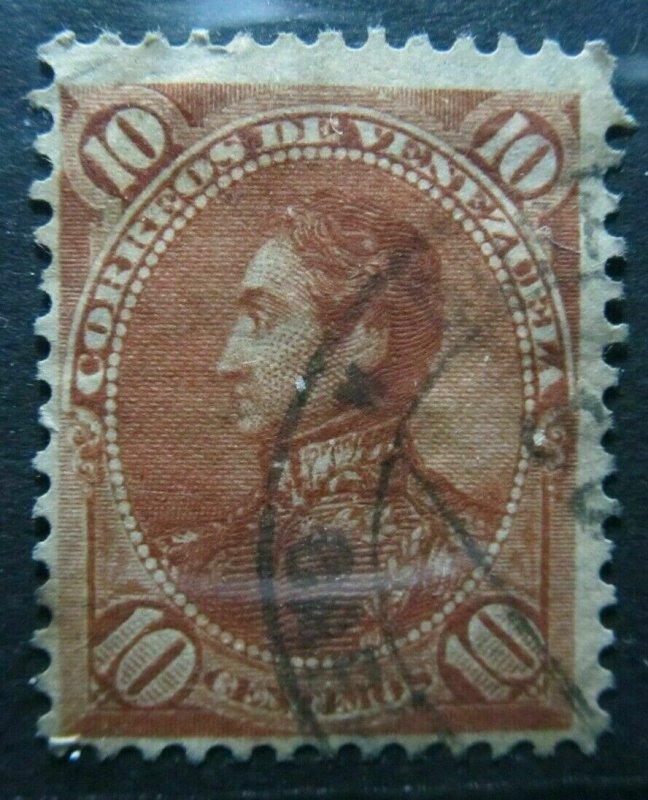 Venezuela 1882 10c fine used South America A4P52F95
