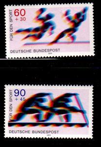 Germany Sc B652-3 1987 Sports Championship stamp set mint NH