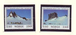 Norway Sc 855-6 1985 Antarctic Mtns stamp set mint NH