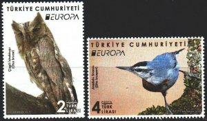 Turkey. 2019. 4492-93. birds, croppa sept. MNH.