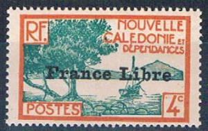New Caledonia 220 MNH Bay of Paletuviers overprint 1941 (N0589)+