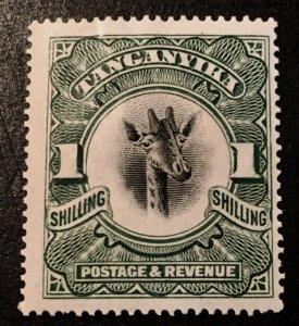 Tanganyika Scott 23 Giraffe Definitive One Schilling-HR