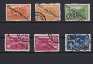 albania 1925 views overprint  mounted mint & used stamps ref r13175