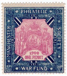 (I.B) Boer War Cinderella : Manchester Philatelic Society Boer War Fund 1d