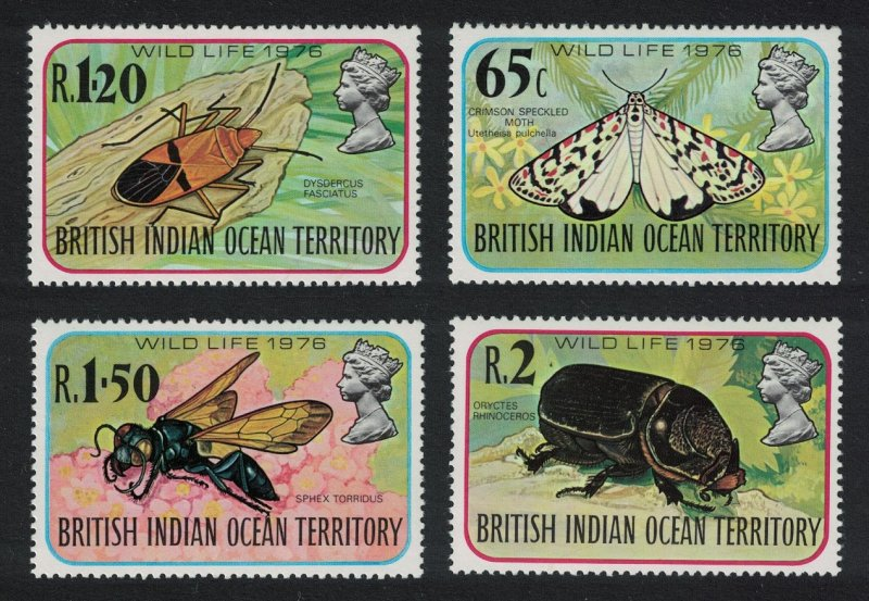 BIOT Moth Bug Beetle Wasp Insects Wildlife 4th series SG#86-89