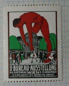 Vienna Horticulture Bureau Exhibit 1911 Exposition Poster Stamp Ads