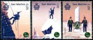 HERRICKSTAMP NEW ISSUES SAN MARINO Sc.# 2036-38 National Alpine Assoc.
