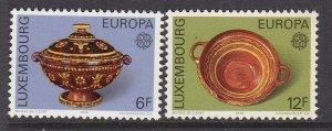 Luxembourg 1976 MNH Stamps Scott 585-586 Europa CEPT Pottery Ceramics Handicraft