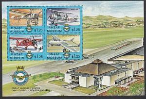 NEW ZEALAND 1992 RNZAF Museum Cinderella mini sheet MNH....................29031