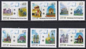 Laos # 1668-1673, Europa Stamps 50th Anniversary, NH, 1/2 Cat.