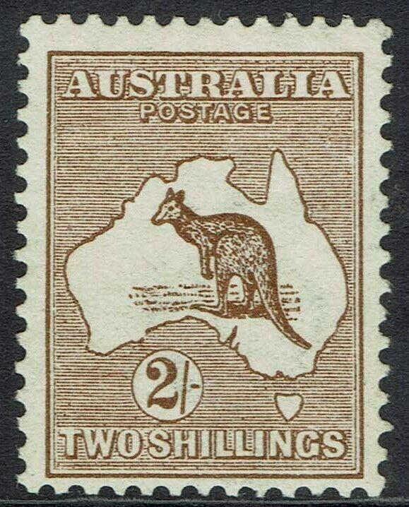AUSTRALIA 1913 KANGAROO 2/- 1ST WMK