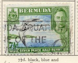 Bermuda 1938-53 Early Issue Fine Used 7.5d. 025820
