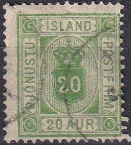 Iceland #O8 F-VF Used CV $50.00 (Z6443)