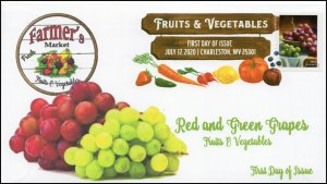 20-163, 2020, SC 5489, Fruits & Vegetables, FDC, Digital Color Postmark,