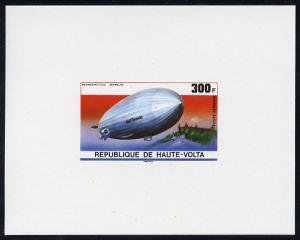 Upper Volta 1976 Zeppelin Airships 300f imperf deluxe pro...