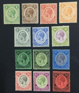 MOMEN: HONDURAS SG #124-137 1922-33 MINT OG H LOT #61125