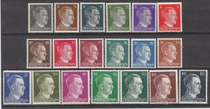 Stamp Germany Mi 781-98 Sc 506-23 WWII 3rd Reich Hitler Head Definitive Set MNG