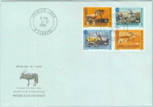 84463 - TCHAD  CHAD  - Postal History - FDC COVER 1996  Animals ROTARY