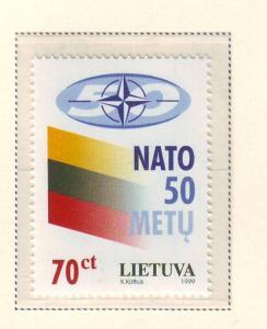 Lithuania Sc 627 1999 50th anniv NATO stamp mint NH
