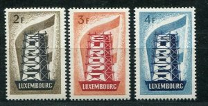 D093677 Europa CEPT 1956 Rebuilding Europe MNH Luxembourg Sc. 318-320