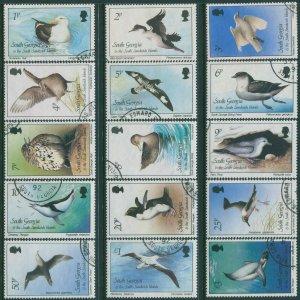 South Georgia 1987 SG161-175 1987 Birds set FU