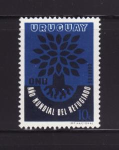 Uruguay 657 Set MNH World Refugee Year (B)