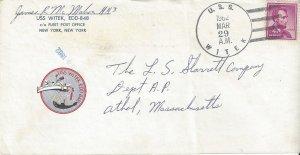 US Naval Cover  USS Witek EDD 848  1962  Sailor's Mail, Ship Stationery