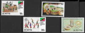 St. Kitts Scott 157-160 MNH St. Kitts and Nevis Independence Set of 1984