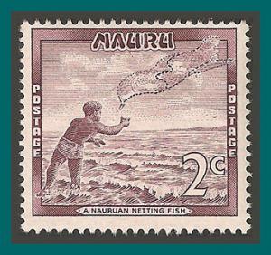 Nauru 1966 Fisherman, 2c MNH 59,SG67