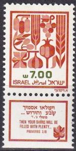 Israel #811  MNH With Tab