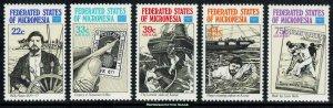 Micronesia Scott 52, C21-C24 Mint never hinged.