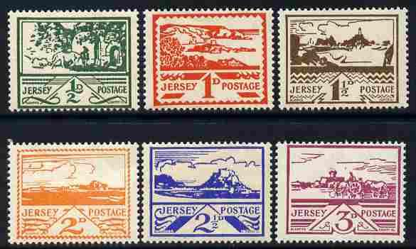 Jersey 1943-44 Occupation set of 6 designed by Blampied u...