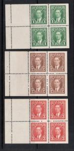 Canada #231a #232a #233a Very Fine Never Hinged Booklet Pane Set