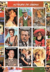 Senegal 1999 - Actors & Actresses Marilyn Monroe  Shlt (9) MNH Sc # 1347