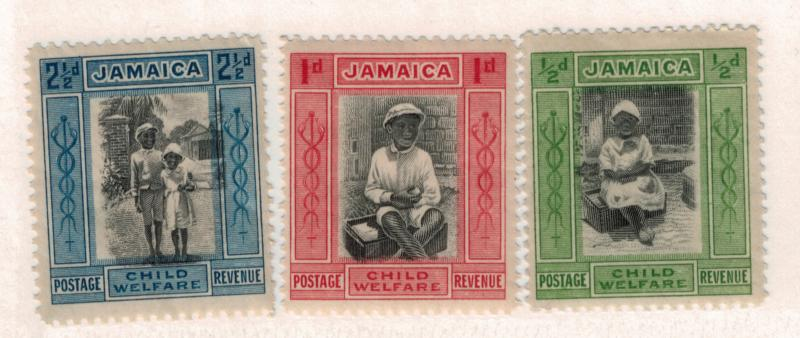 Jamaica Scott #B1 To B3, Child Saving League of Jamaica Issue From 1923, Coll...