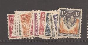 Northern Rhodesia KGVI Animals SG 25-40,42-4 MOG (6avi)