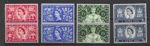 Great Britain 314-6 MNH cpl set x 2, f-vf. see desc. 2020 CV $32.00