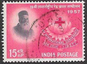 India Scott #291 15np Henr Dunant (1957) Used
