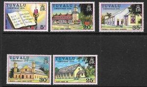 TUVALU SG45/9 1976 CHRISTMAS MNH