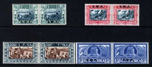 SOUTH WEST AFRICA 1938 Voortrekker Centenary Complete Set SG 105 to SG 108 MINT