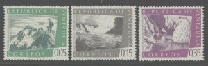 Venezuela 1960 Mountain, Cave & Waterfall set Sc# 782/C755 NH