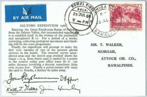 73772  - PAKISTAN - Postal History -   Saltoro Expedition 1960  Mountaineering
